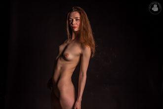 black curtain artistic nude photo by photographer joesgaragephotos