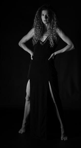 black dress studio lighting artwork by photographer gsphotoguy