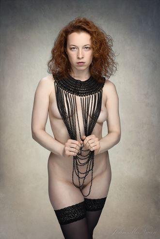 black pearls artistic nude photo by photographer john mcnairn