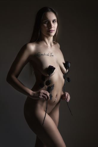 black roses artistic nude photo by photographer ken greenhorn
