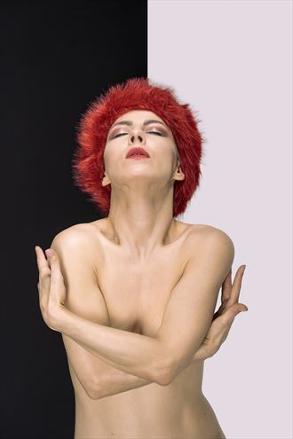 black white red artistic nude photo by photographer imooreimages