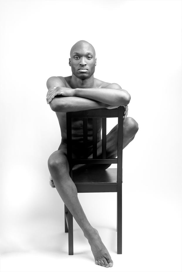 blaine porter seated artistic nude artwork by photographer david clifton strawn