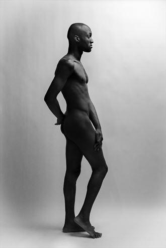 blaine porter standing artistic nude artwork by photographer david clifton strawn