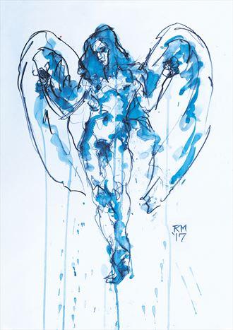 blue angel fantasy artwork by artist rob macgillivray