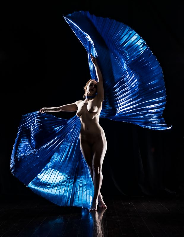blue butterfly artistic nude photo by photographer darth slr