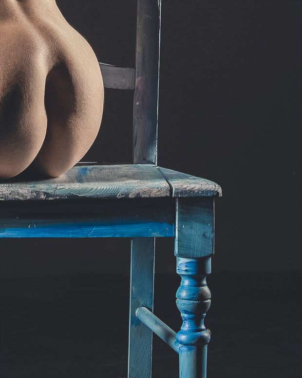 blue chair figure study 3 artistic nude photo by photographer brian cann