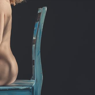 blue chair figure study 6 artistic nude photo by photographer brian cann