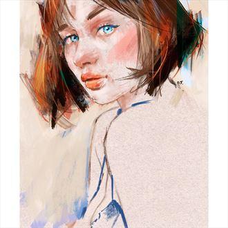 blue eyes digital artwork by artist jond