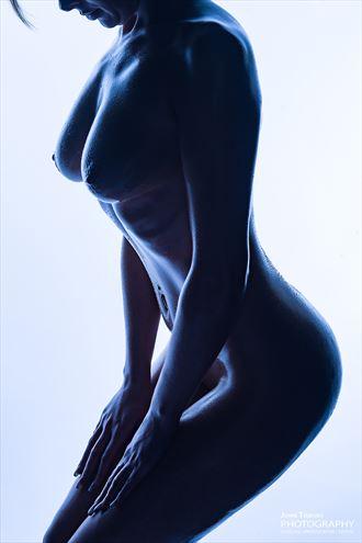 blue nude artistic nude photo by photographer john tisbury