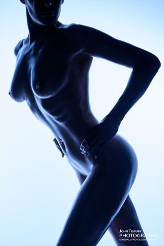 blue nude no 2 artistic nude photo by photographer john tisbury