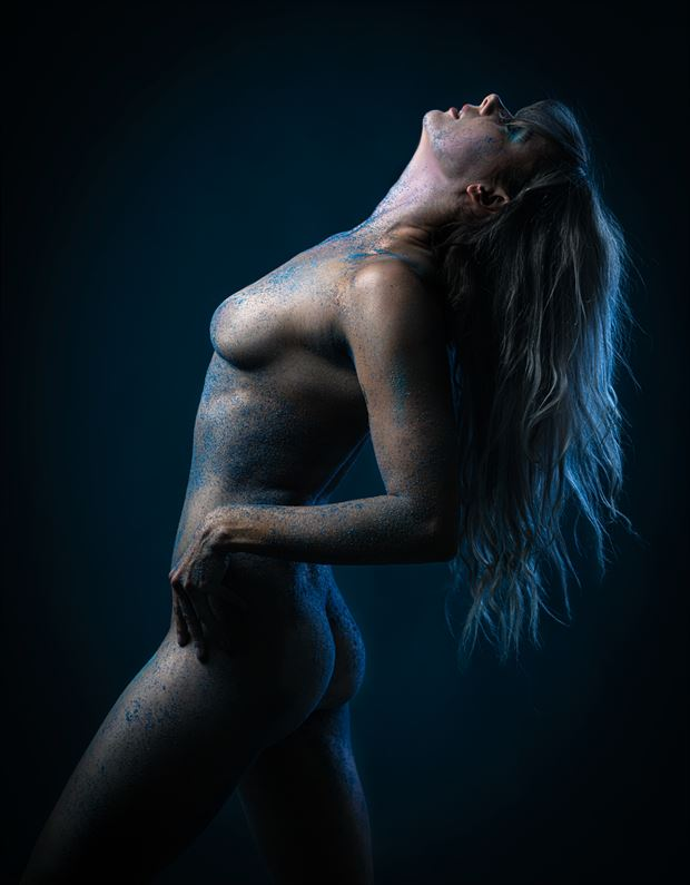 blue sand no 1 artistic nude photo by model alexandra queen
