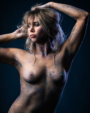 blue sand no 6 artistic nude photo by model alexandra queen