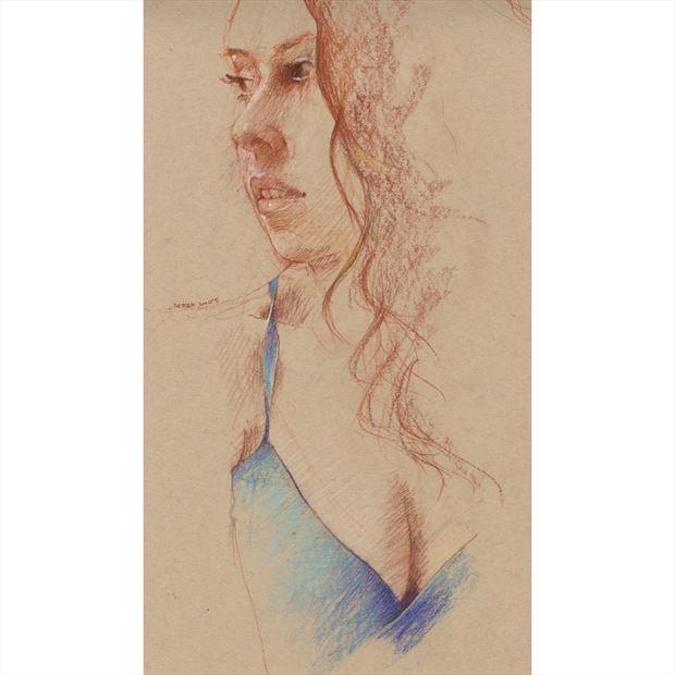 blue sensual artwork by artist jond
