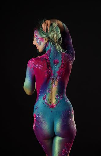 body paint on black body painting artwork by photographer russb