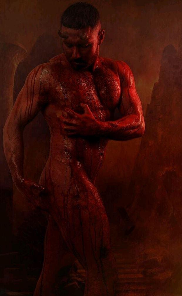 body painting horror photo by model joshenton