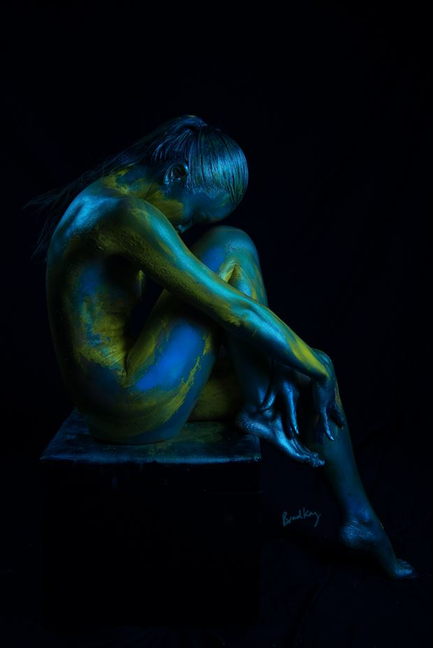 body painting implied nude photo by photographer bradley delaney
