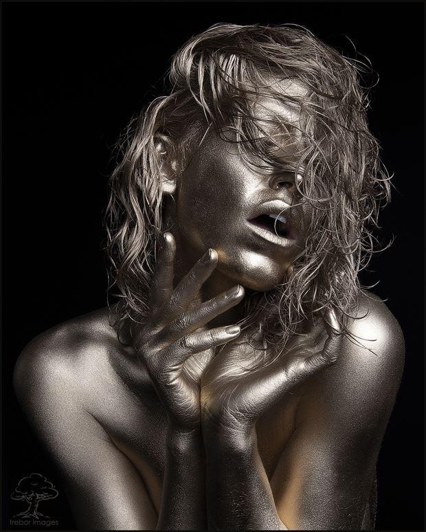 body painting studio lighting artwork by model bou