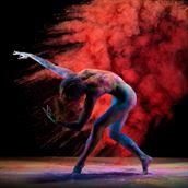 body painting studio lighting photo by model vivian cove