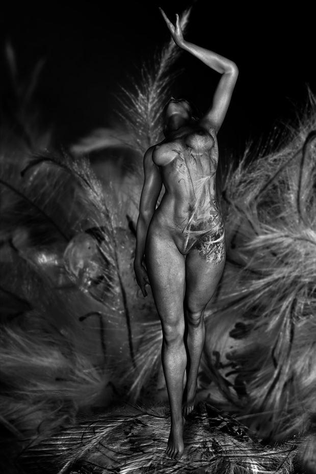 bodyart artistic nude artwork by artist derbuettner