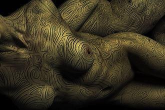 bodymap model huck syb 064 pure gold edit artistic nude photo by photographer art studios huck