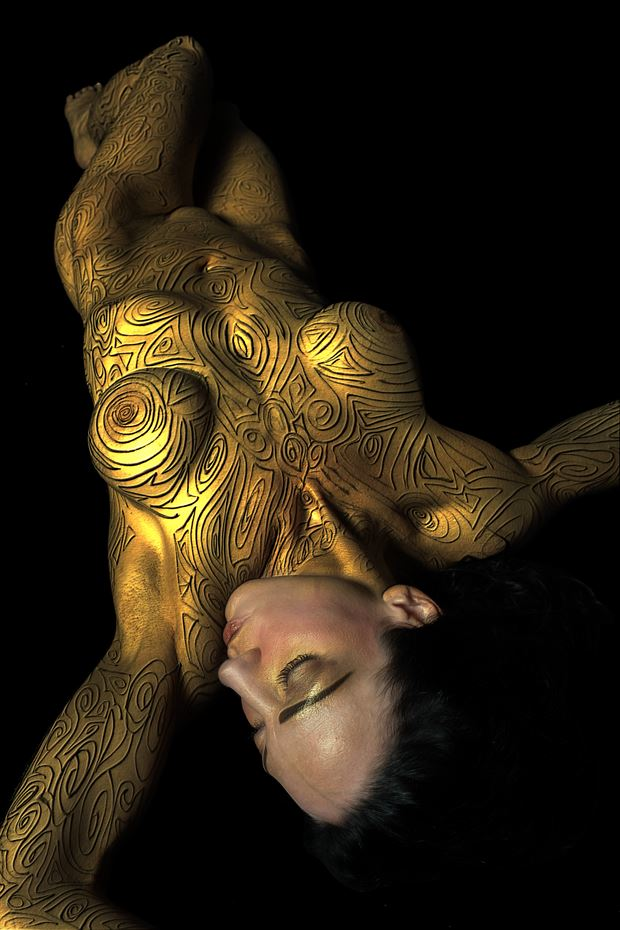 bodymap model syb 144 pure gold edit artistic nude photo by photographer art studios huck