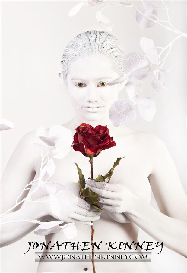 bodypaint shoot sensual photo by model anastasia maye
