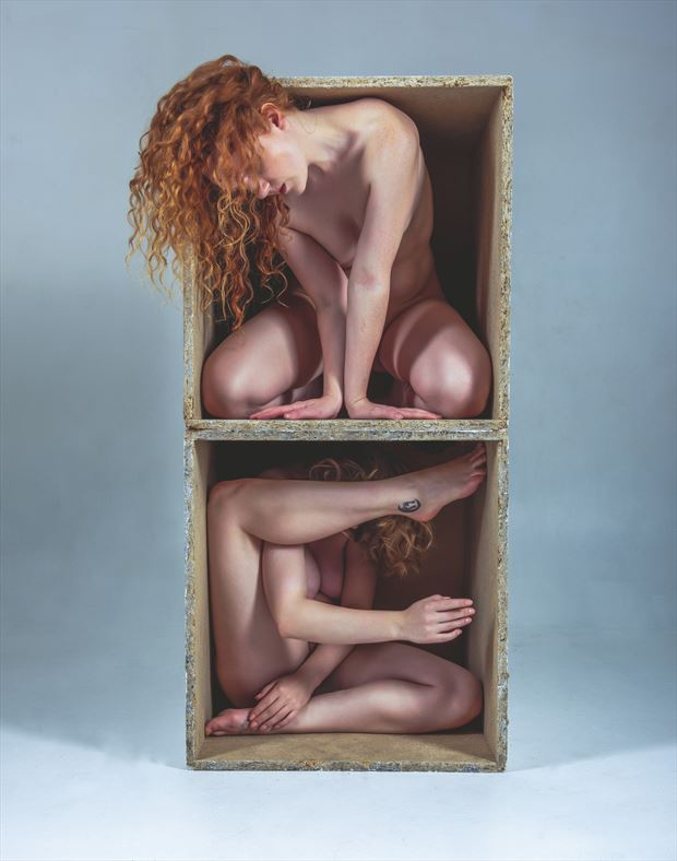 boxed out artistic nude photo by photographer neilh
