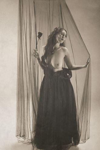 bride of darkness vintage style artwork by model eirwen kreed
