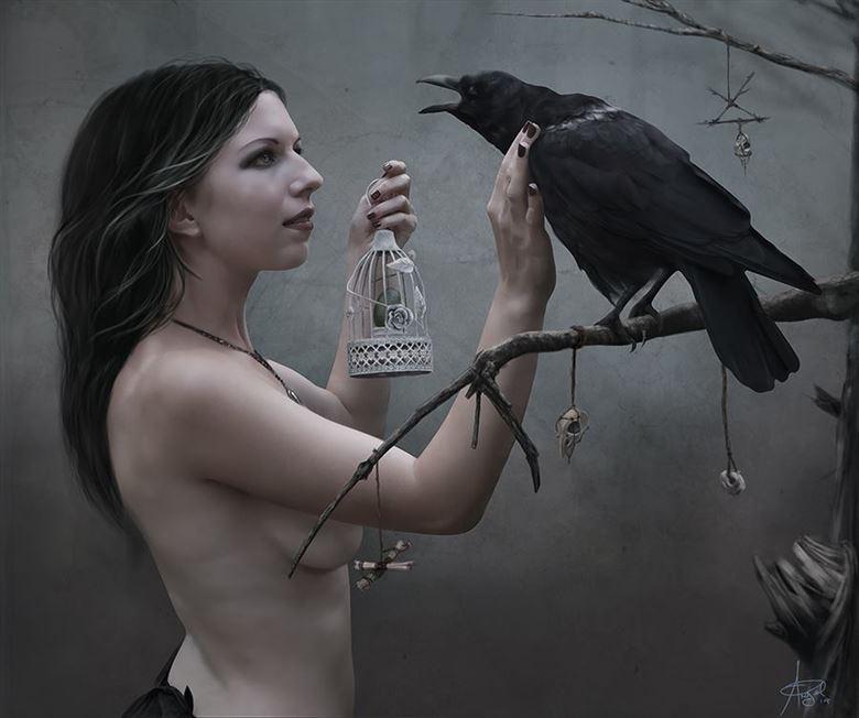 broken lullaby artistic nude artwork by artist angeil illustrations