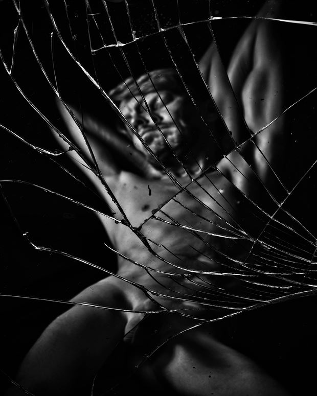 broken reflections artistic nude photo by photographer r pedersen