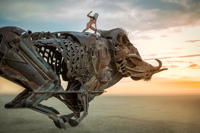 burning man artistic nude photo by model april a mckay