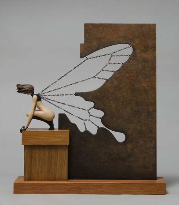 butterfly effect artistic nude artwork by artist john morris sculptor