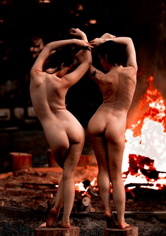by the fire artistic nude photo by photographer ccw photography