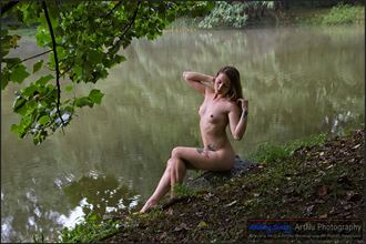 by the pond 2 artistic nude photo by photographer andriy siniy
