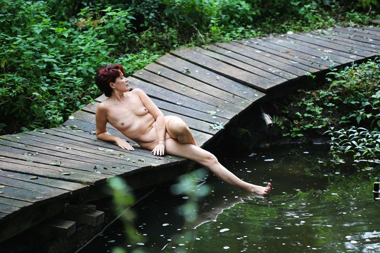 by the stream 01 artistic nude photo by photographer iroiseorient