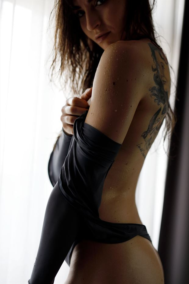 by the window sensual photo by model bia