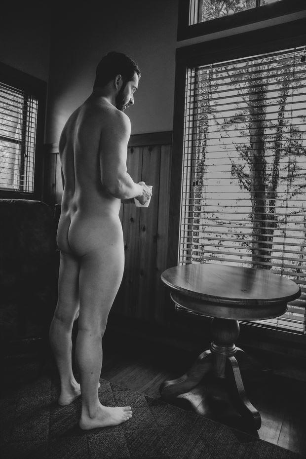 cabin boudoir window table 3 artistic nude photo by model jonathan arts