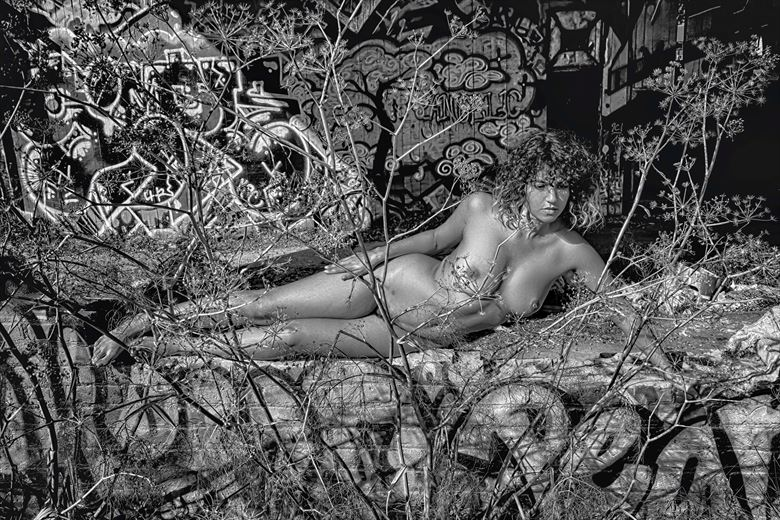 calm in the chaos artistic nude photo by photographer philip turner