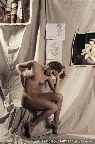 canvas artistic nude artwork by model kaye