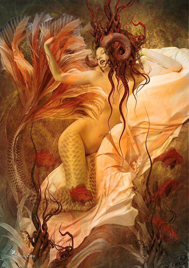 capricorn artistic nude artwork by artist digital desires