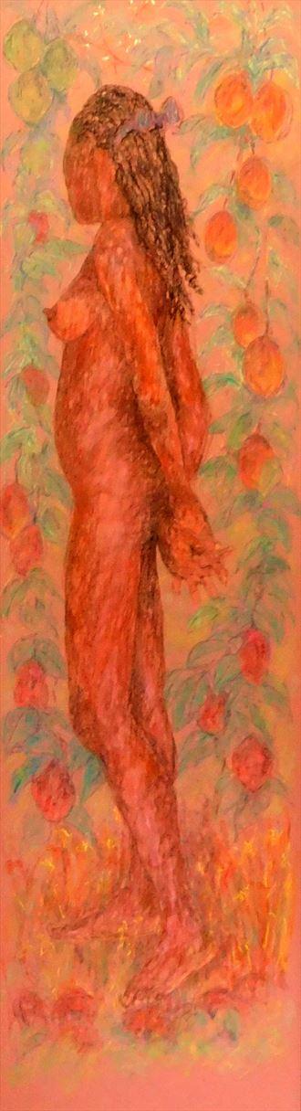 caribbean garden of eden panel 2 artistic nude artwork by artist roger burnett