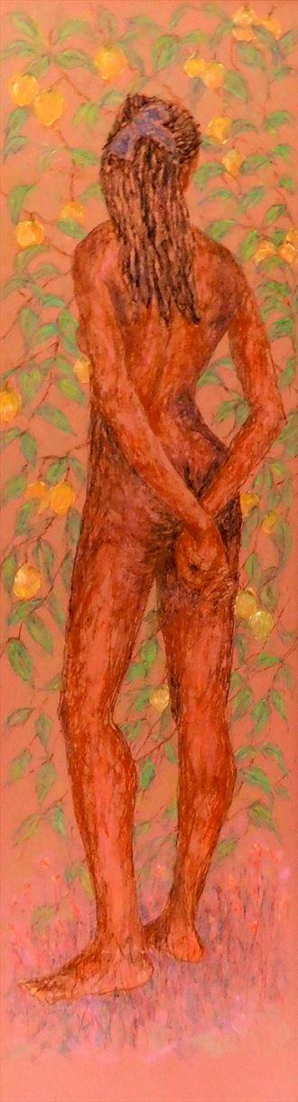 caribbean garden of eden panel 3 artistic nude artwork by artist roger burnett