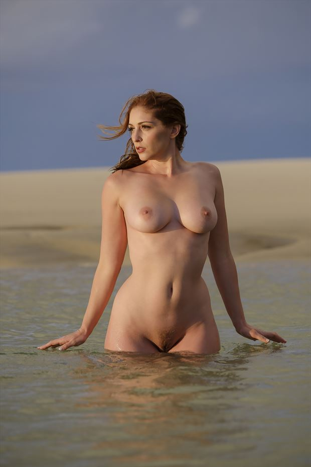 carly in the surf artistic nude photo by photographer tim bradshaw