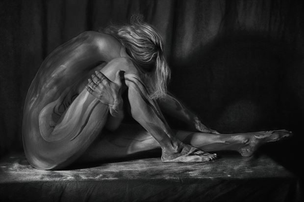 carmin in paint artistic nude photo by photographer bill milward