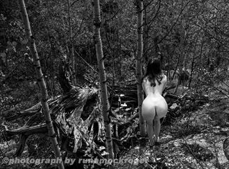 cassieu in the forest artistic nude photo by photographer runamockroger