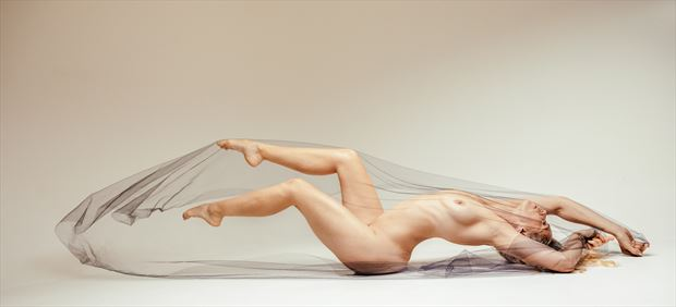 cast a veil artistic nude photo by model selkie