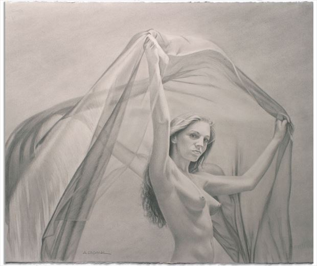 catching wind artistic nude artwork by artist a d cook