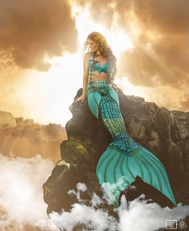 celestial mermaid cosplay photo by artist jay dub