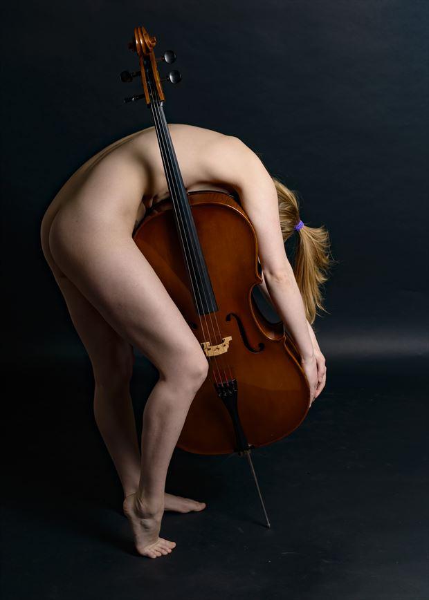 cello series fearra lacome iii artistic nude artwork by photographer photo kubitza
