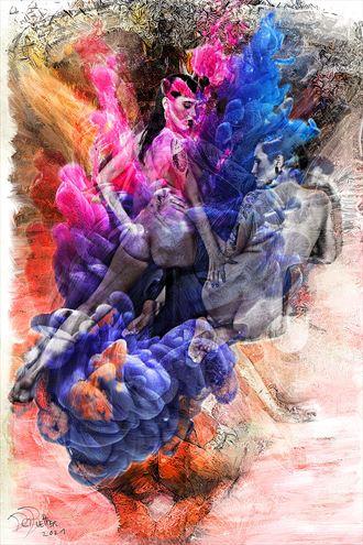 centered artistic nude artwork by artist derbuettner